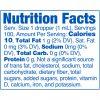 Strainz CBD5000 Citrus Nutrition Panel